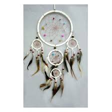 Stores That Sell Dream Catchers Buy leather and crystal dreamcatcher online available in white 2