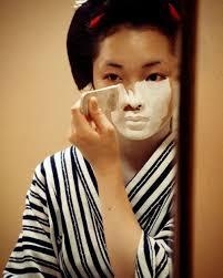 Kết quả hình ảnh cho geisha trang điểm oshiroi
