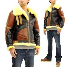 buzz rickson br80489 men s sheepskin b 3 er jacket reion rough wear