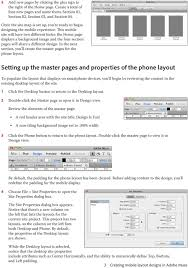 Creating mobile layout designs in Adobe Muse - PDF