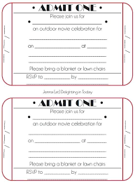 Admit One Ticket Template Free Extraordinary Carnival Ticket Invitation Template Free Circus Printable Invite