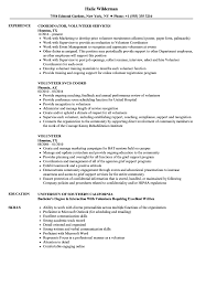 How To Put Shadowing On A Resume Volunteer Resume Samples Velvet Jobs 20
