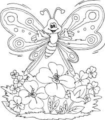 Coloring Pictures Of Butterflies Butterfly And Flower Of Nature