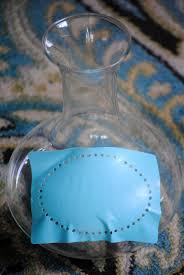 how to paint glass using martha stewart glass paint diy vintage inspired glassware set bottle painting martha stewart