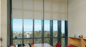 office window blinds. Commercial Office Shades Work Well With The Clean Lines Of This While Providing Light And Window Blinds
