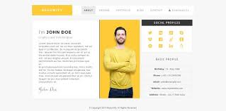 Resumify One Page Resume Template Html Css Themes Creative Market