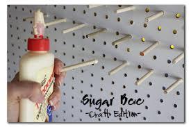 pegboard thread rack diy spool holder