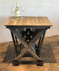 industrial furniture for sale. Wine Cart Industrial For Furniture Sale Patina Yard