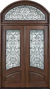 Iron Man Door Design Front Door Custom Double Solid Wood With Walnut Finish
