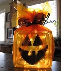hallowen glass block crafts 5