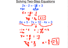 on solving two step equations and longer equations