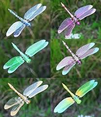 dragonfly garden stakes. Metal Dragonfly Garden Stake Stakes Windy Wings 7 Inch Assortment Set . 2