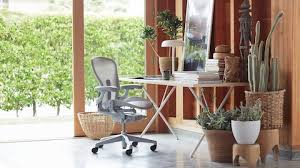 herman miller home office. An Aeron Chair And A Nelson X-Leg Table In Home Office. Select Herman Miller Office