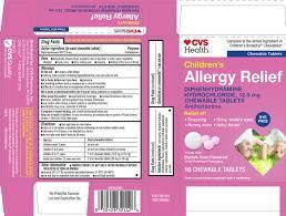 Children S Chewable Benadryl Dosage Chart Childrens Allergy Relief Dye Free Tablet Chewable Cvs