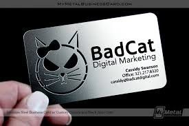 Stainless Steel Business Cards Custom Stainless Steel Business Card With Cutout Areas On
