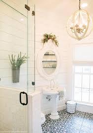 white shiplap complements an antique bathroom design