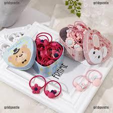 <b>20pcs</b>/<b>Lot gift box</b> packed girls cute cartoon elastic hair bands $2.11