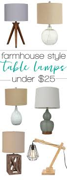 farmhouse style lamps under 50