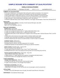 Resume Summary Of Qualificationses Project Manager Sample Entry