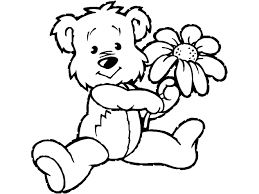 Teddy Bear With Heart Coloring Pages And Az Dju8 Courtoisiengcom
