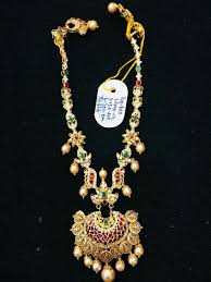 Latest Gold Haram Designs In 40 Grams 40 Grams Light Weight Gold Jewellery Gold Jewelry