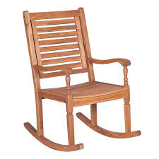 Welwick Designs Wood Outdoor Patio <b>Rocking Chair</b> - <b>Brown</b> | The ...
