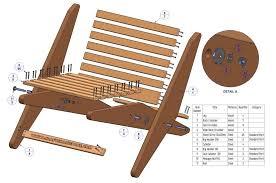 Garden folding chair plan - Parts list