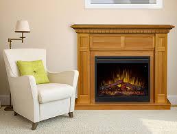 wilson electric fireplace mantel package in rift oak gds26l5 1803ro