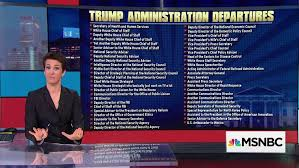 Trump Administration Departures Chart Trump Admin Departure List Grows But What Of Those Remaining