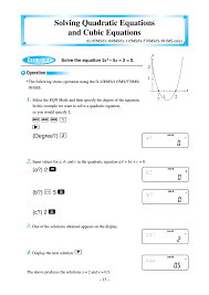 solving quadratic equations and cubic equations f f f 1 r casio fx 570ms user manual page 18 46