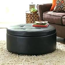 black leather tufted ottoman round leather coffee table ottoman attractive round leather coffee table lovable ottoman