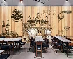 Beibehang Hause Dekorative Tapete Vintage Handgemalte Weinkeller Holz Hintergrund Foto Wandbild 3d Wallpaper Behang