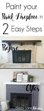 Brick Fireplace Mantel Best 25 Brick Fireplace Makeover Ideas On Pinterest Painting