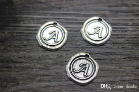 whole 19mm a s letters vintage antique silver charms pendants initial stamped wax seal alphabet letter uk 2019 from randii uk 20 75 dhgate uk