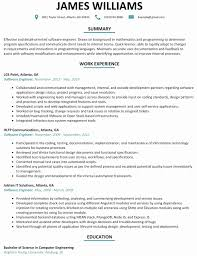 50 Best Of Sample Resume Format For Experienced Software Engineer