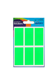 Avery Packets Of Labels Rectangular 50x25mm Neon Green Ref