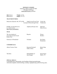Acting Resume Acting Resumes with No Experience A Beginnerus Acting W Experience 92