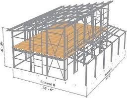 steel home lake mounn cabin s kit contemporary single slope roof