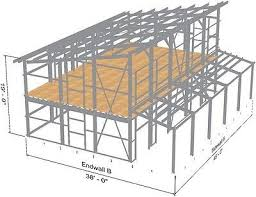 steel home lake mountain cabin s kit contemporary single slope roof