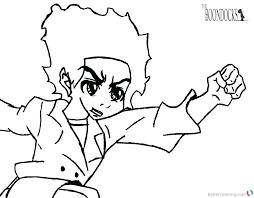 the boondocks coloring pages boondocks coloring pages boondocks coloring pages