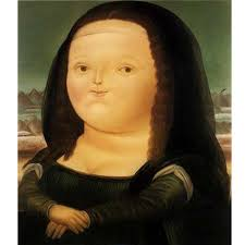 hand painted fat mona lisa modern art high quality fernando botero canvas oil painting living room hallway home decor fine art funny gifts for guys funny