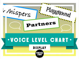 Voice And Noise Level Chart School Stuff