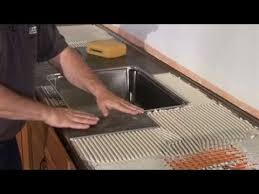 schluter countertop system installation segment 3 tiled under sink backsplash tiles you