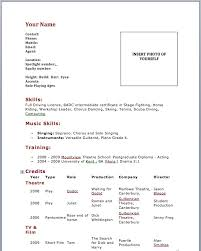 20 Images Of Theatre Audition Resume Template Diygreat Com