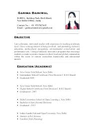 Example Teacher Resumes