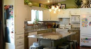 tin countertops kitchen remodel white green silver granite transitional hammered