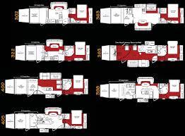 keystone fuzion toy hauler travel trailer rv floorplans