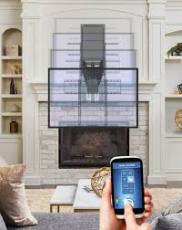 cedia 2017 mantelmount to launch its first motorized tv mount for over the fireplace installations new mm850 moves up down in out left right