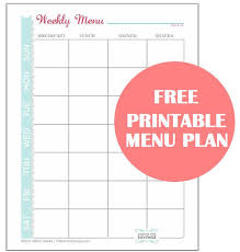 A great way to save money is to create a Menu Plan. Here is a Free ...