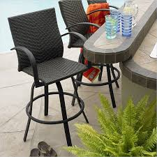 outdoor bar chairs with backs. outdoor great room resin wicker swivel bar stool chairs with backs w